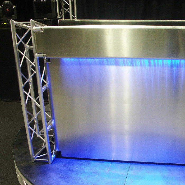 Stylish DJ Booth Setup